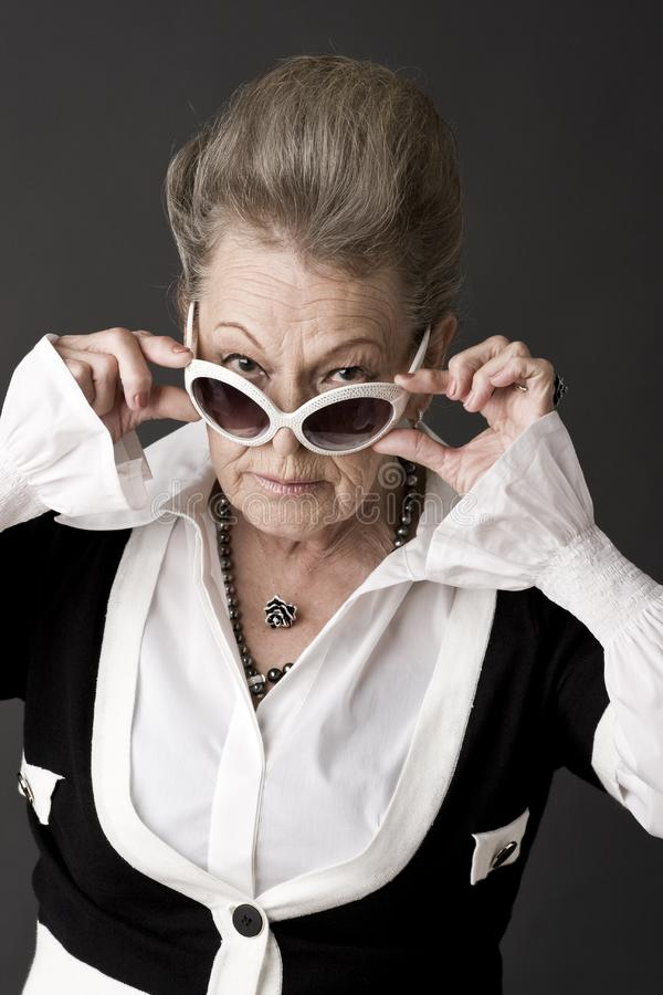 Portrait of a senior lady stock photography