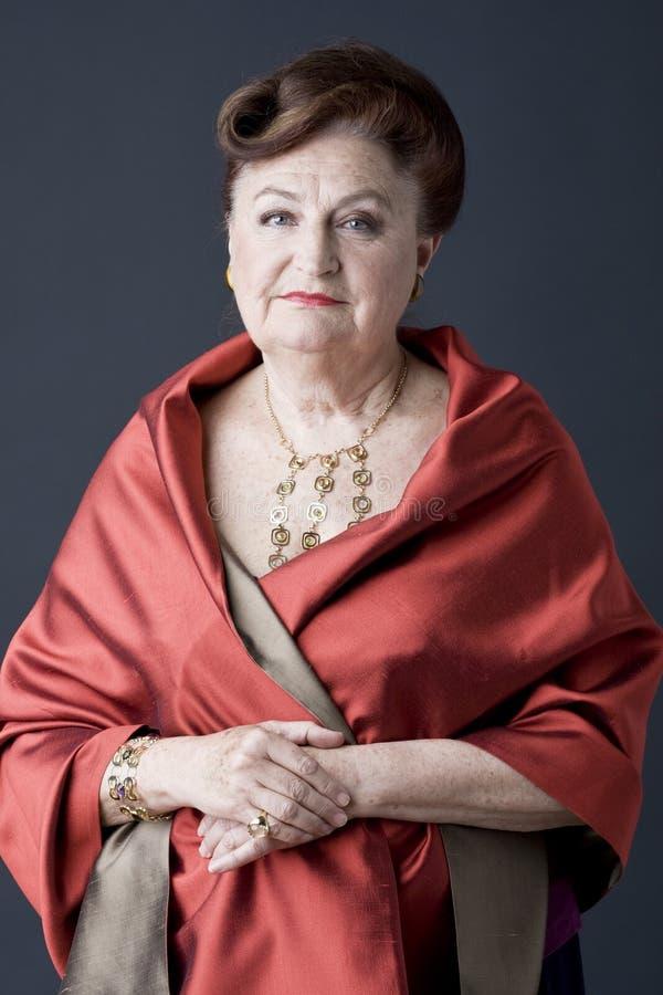 Portrait of a senior lady stock image