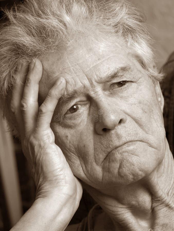 Unhappy Senior Man royalty free stock images