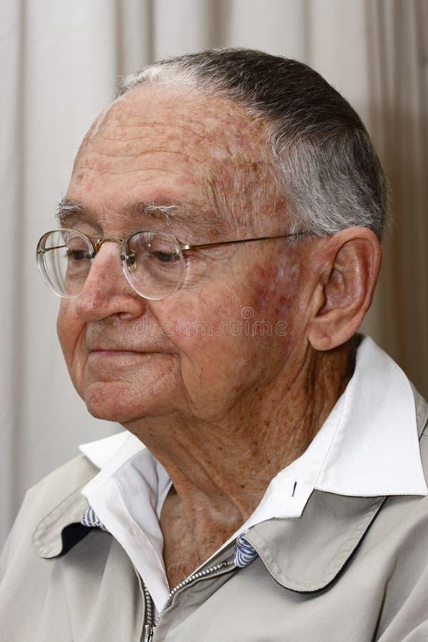 Portrait of a senior man stock image