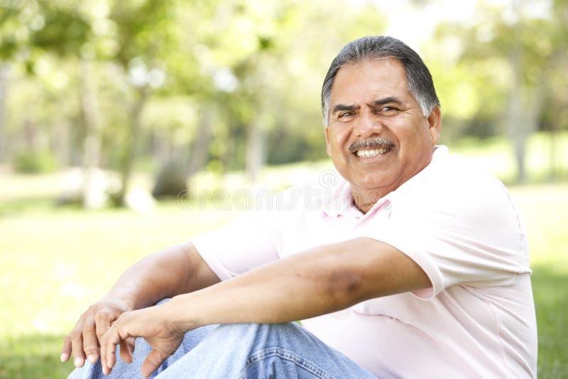Portrait Of Senior Man In Park Stock Photos