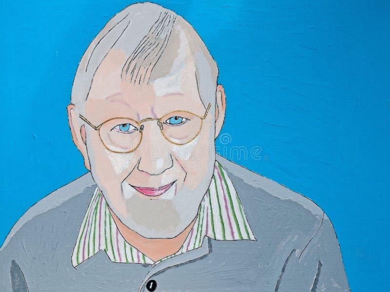 Download Portrait of senior stock illustration. Illustration of painted - 70320178