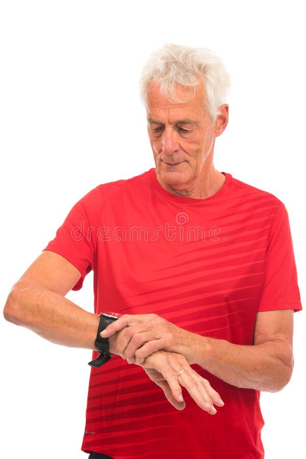 Portrait senior sport man royalty free stock photo