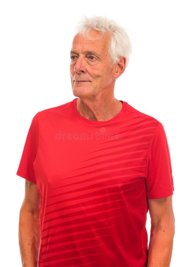 Portrait senior sport man royalty free stock photos