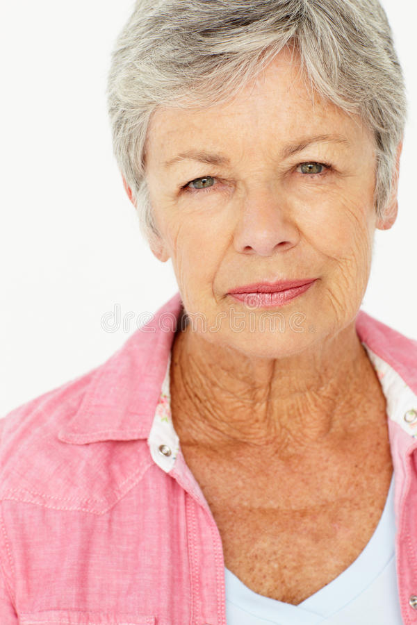Portrait of senior woman stock image