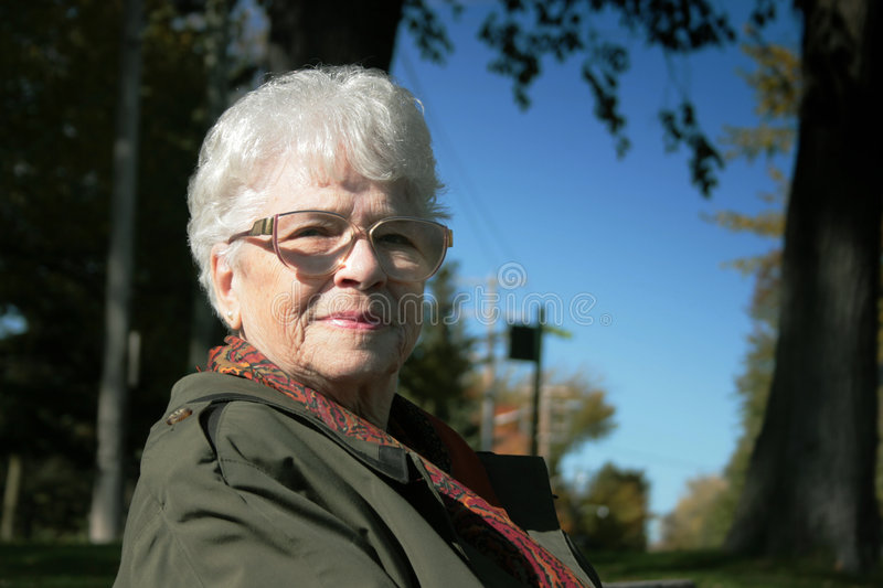 Download Portrait of senior woman stock photo. Image of older, glasses - 3480730