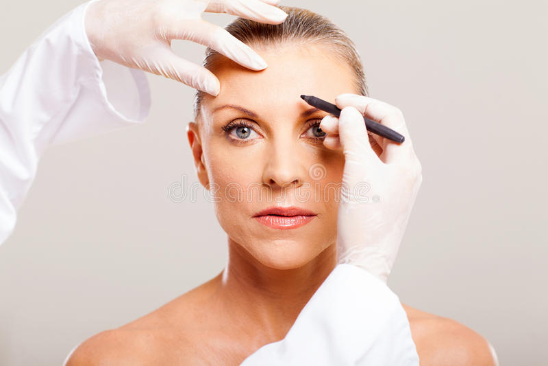 Download Senior Woman Face Marking Stock Image - Image: 29801361