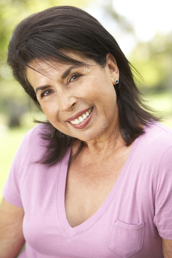 Portrait Of Senior Woman In Park Royalty Free Stock Images