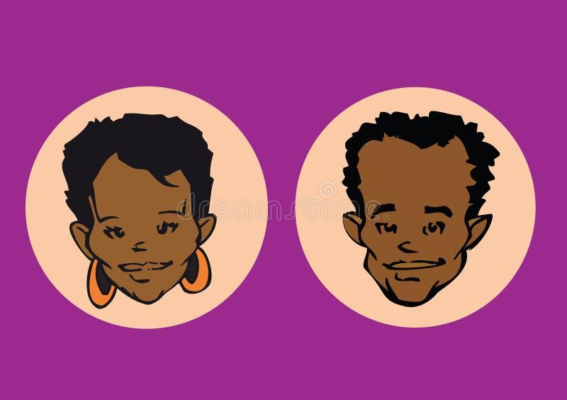 Download Portrait series - couple stock illustration. Illustration of portraits - 5028381
