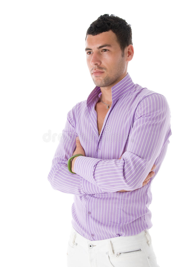 Portrait of a serious fashion guy stock photos