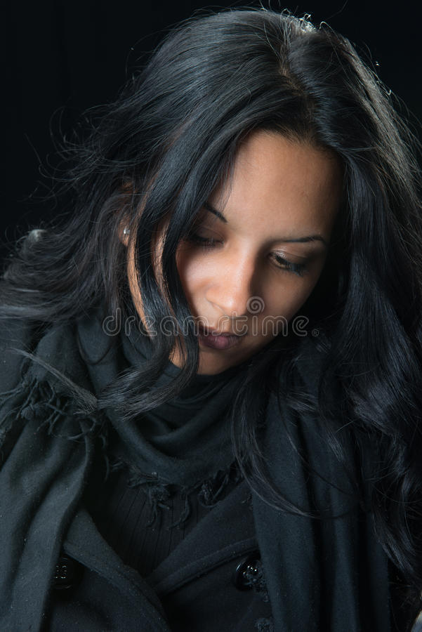 Download Portrait Serious Gypsy Woman Stock Photo - Image of model, expression: 28035920