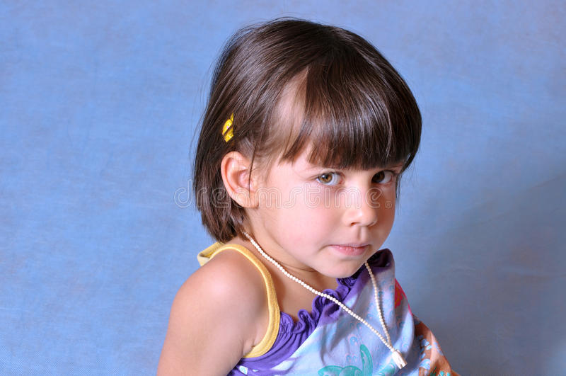 Download Portrait Of A Serious Little Girl Stock Image - Image: 18253487
