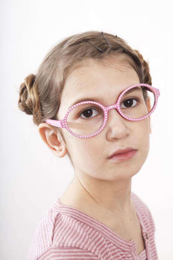 Download Portrait Of Serious Little Girl Stock Photo - Image: 18549288