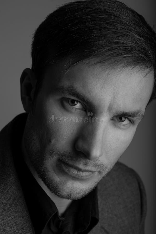 Portrait of a serious successful businessman. stock image