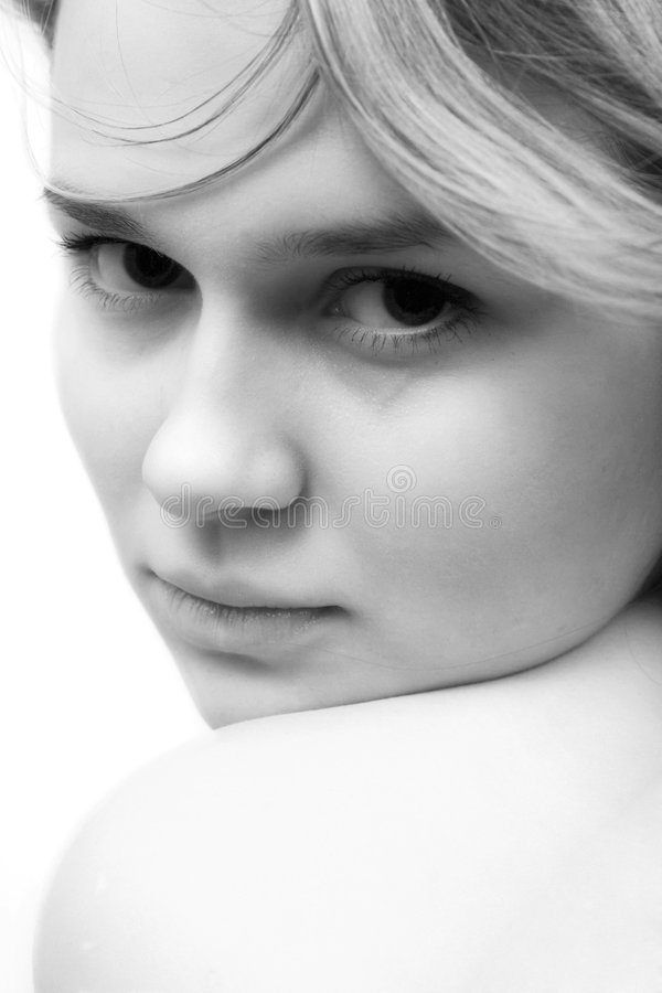 Portrait of the sexual young woman royalty free stock photos
