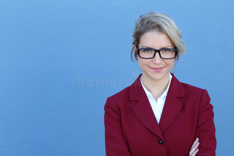 Portrait of and confident business woman royalty free stock photo