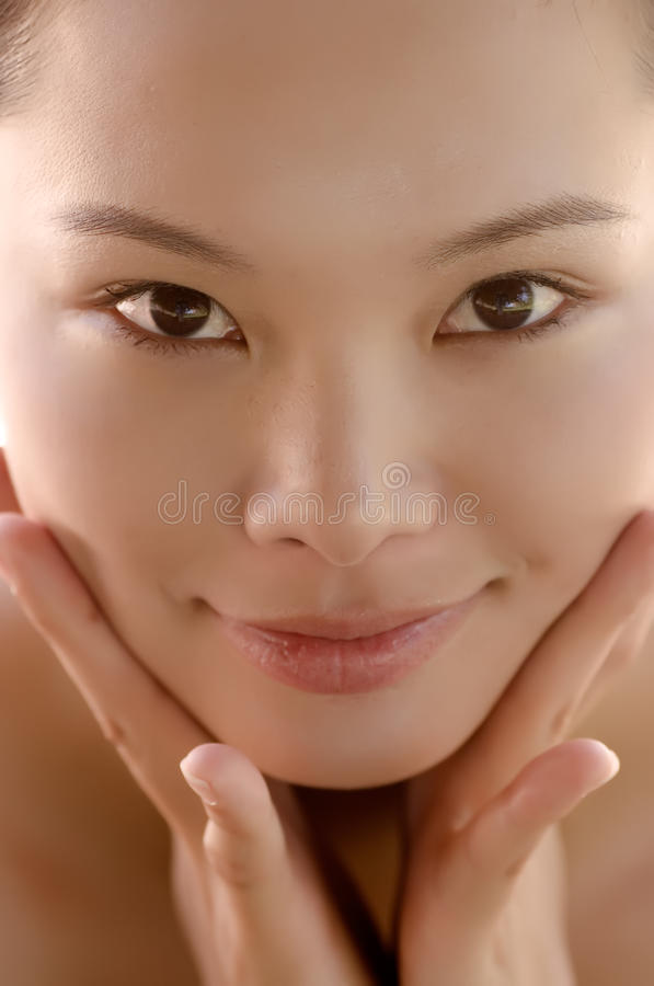 Download Portrait Of A Eastern Young Lady Smiling Stock Photo - Image: 10400984