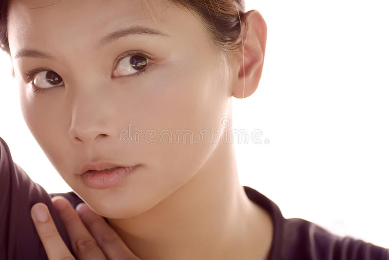 Download Portrait Of A Eastern Young Lady Smiling Stock Image - Image of chinese, fresh: 10411865