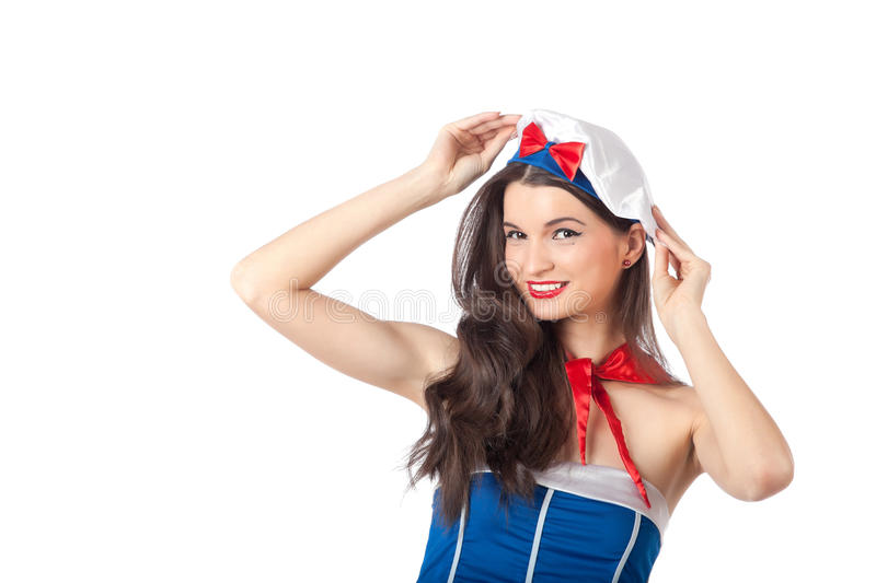 Portrait Of A Sailor Woman Stock Photography