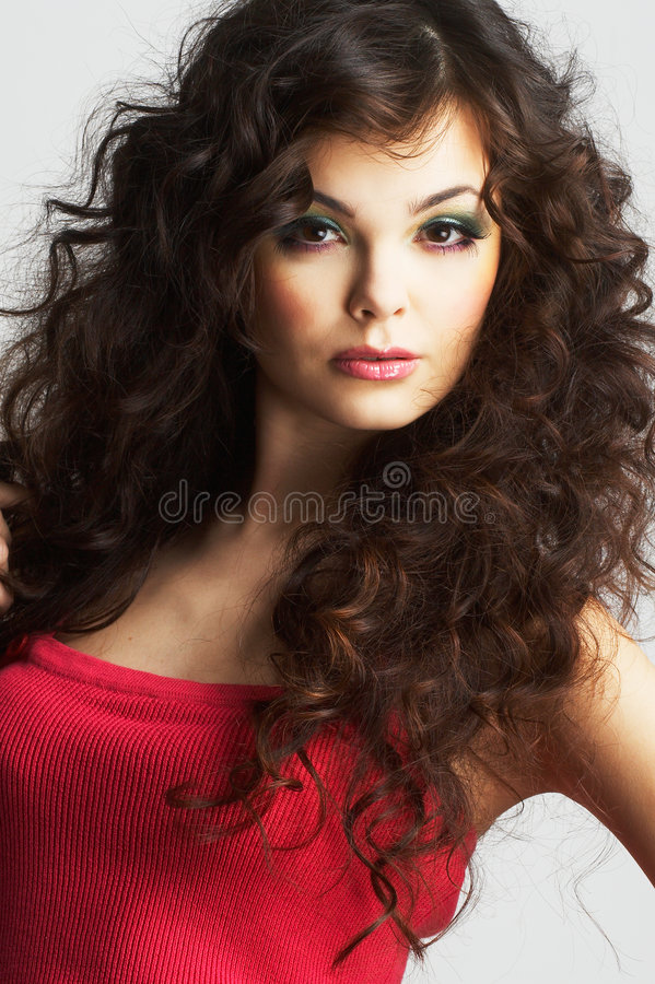 Portrait of woman with beautiful make-up royalty free stock image