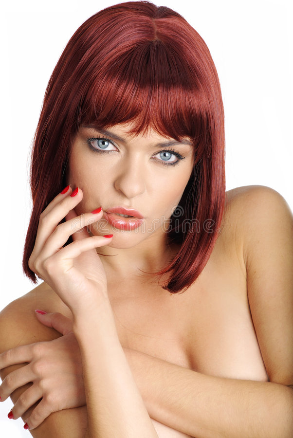 Download Portrait Woman With Red Hair Stock Photo - Image of beauty, female: 6646806