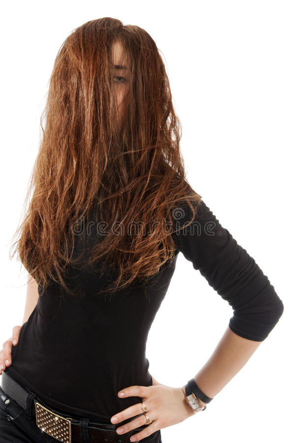 Portrait of a young woman in sweaters stock photography