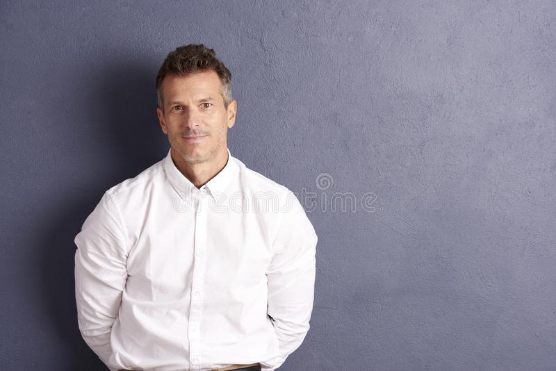 Confident man portrait stock images