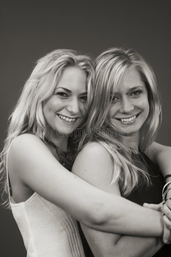 Portrait of sisters royalty free stock photo