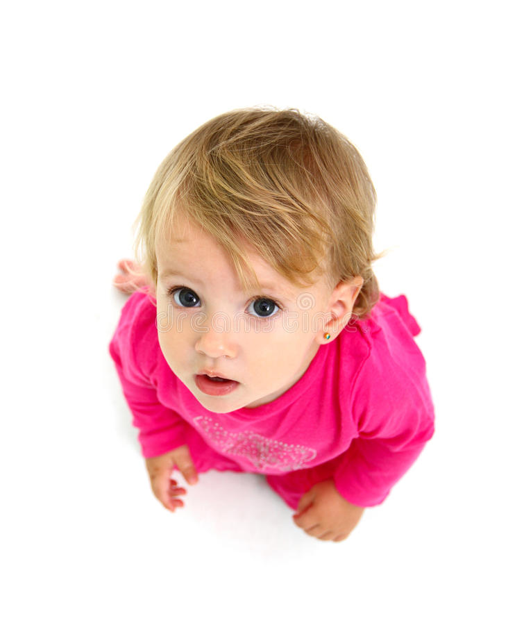 Download Portrait Of A Sitting Little Girl Stock Image - Image: 27479871