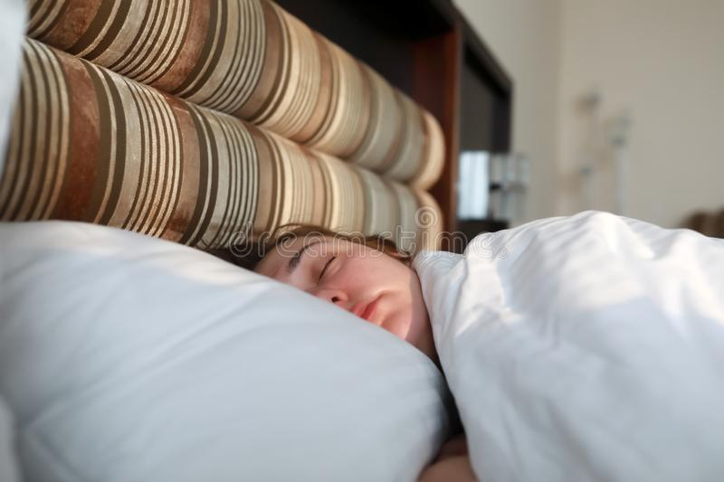 Portrait of sleeping woman royalty free stock photo