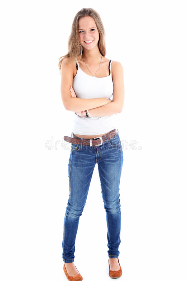 Portrait of a slender teenager royalty free stock photos