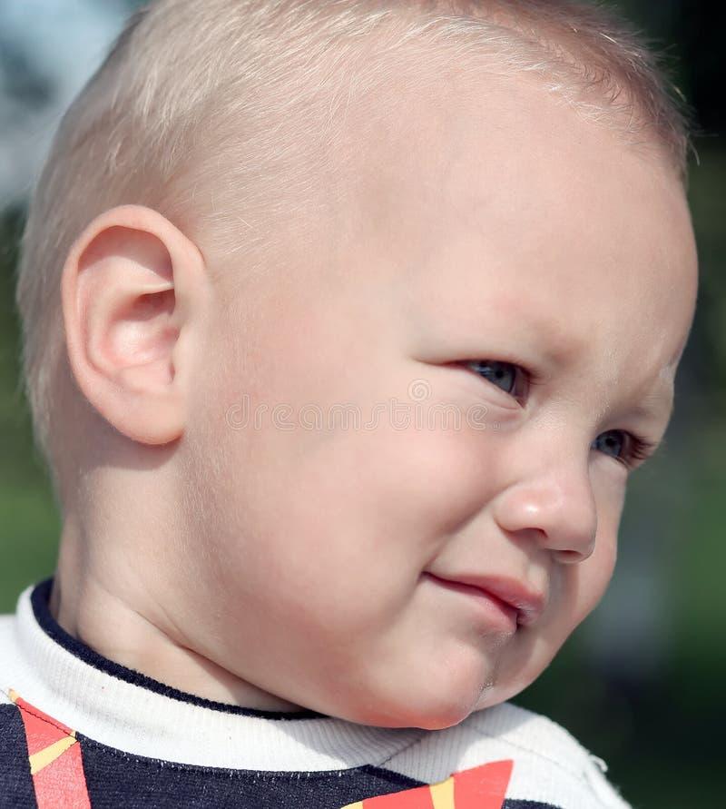 Portrait of smart beautiful adorable boy stock photo