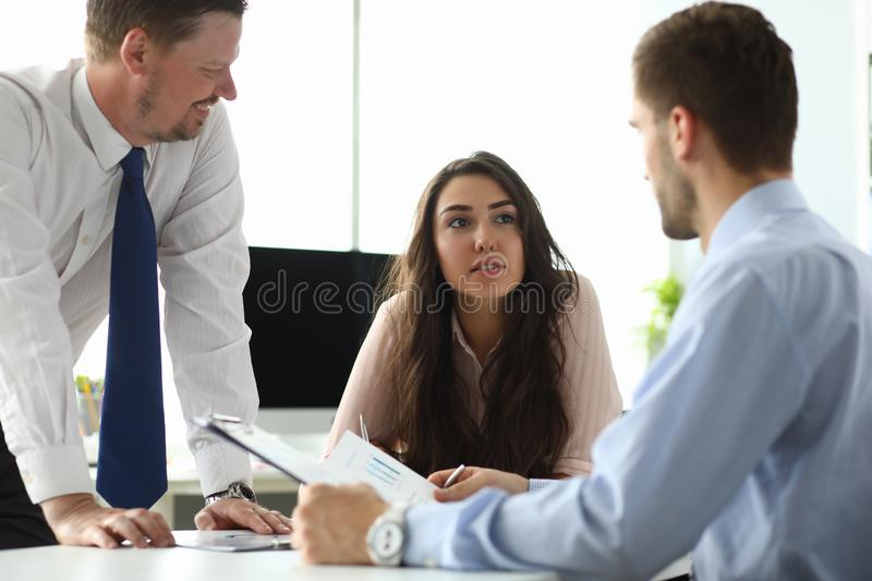 Gorgeous female manager stock images