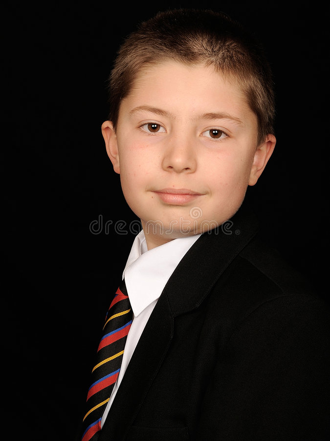 Portrait of smart young boy royalty free stock photo