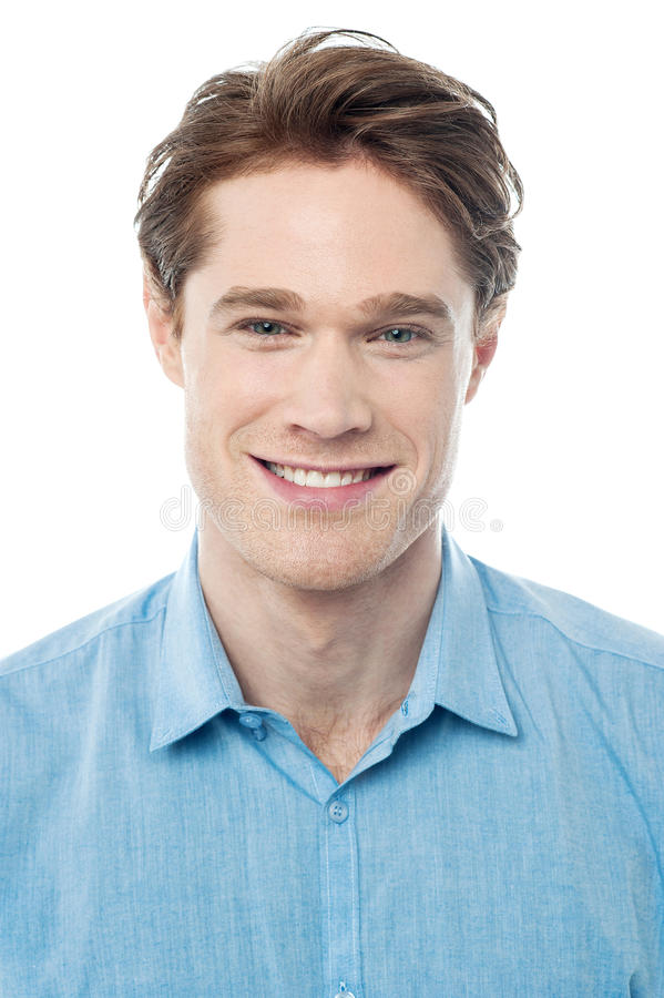 Portrait of a smart young guy stock image