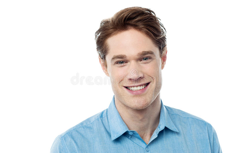 Portrait of a smart young man royalty free stock image