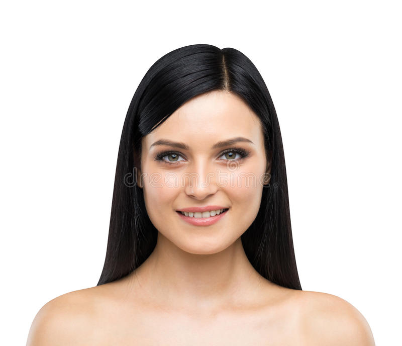 A portrait of a smiling attractive lady. stock image