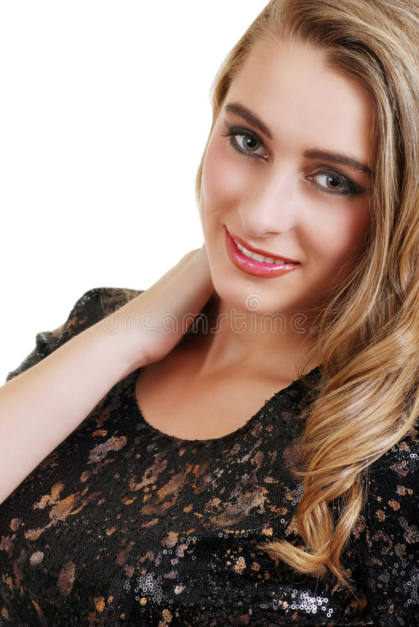 Portrait of smiling blond teenager stock photography