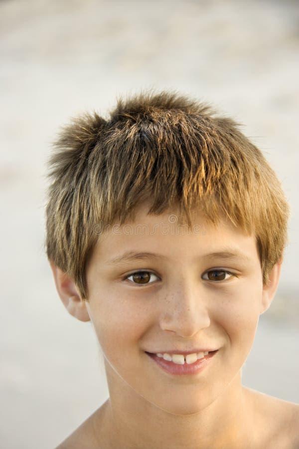 Portrait of smiling boy. royalty free stock photo