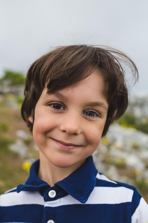 Portrait of a smiling boy royalty free stock images
