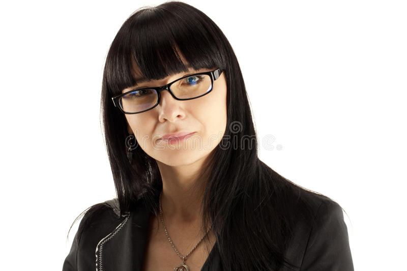 Portrait of the smiling business woman stock photography