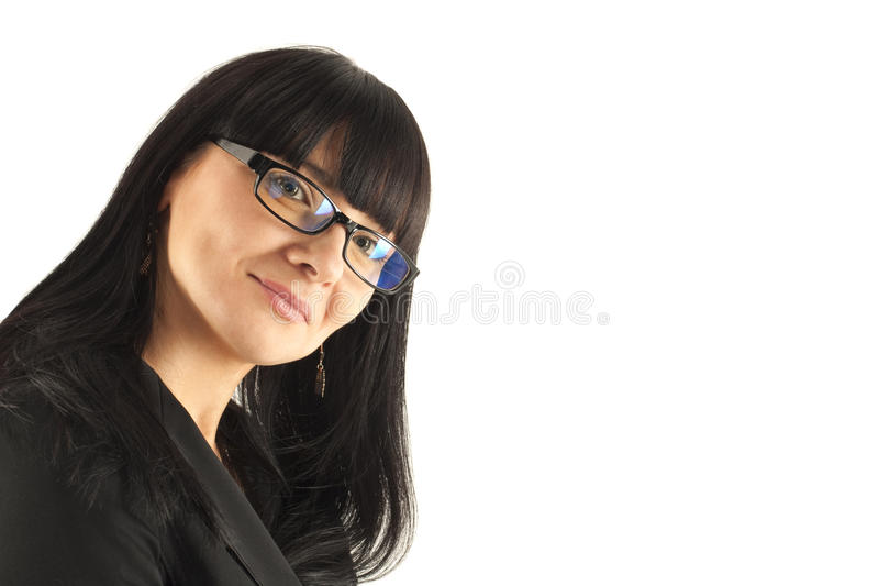 Portrait of the smiling business woman royalty free stock photos