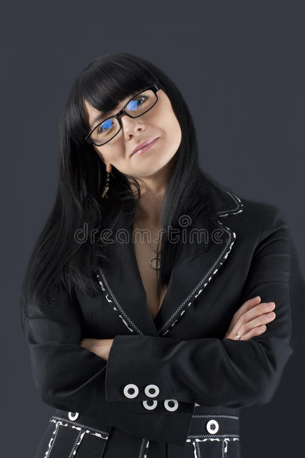 Portrait of the smiling business woman stock images