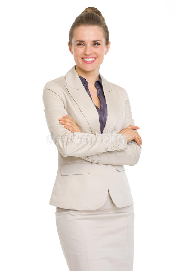 Portrait Of Smiling Business Woman Stock Photos