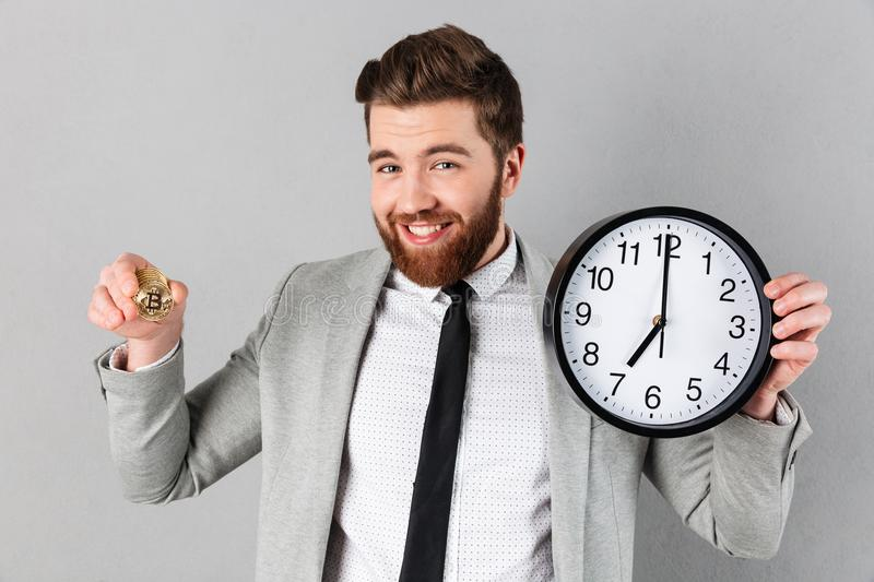 Download Portrait Of A Smiling Businessman Stock Image - Image of international, electronic: 109480259
