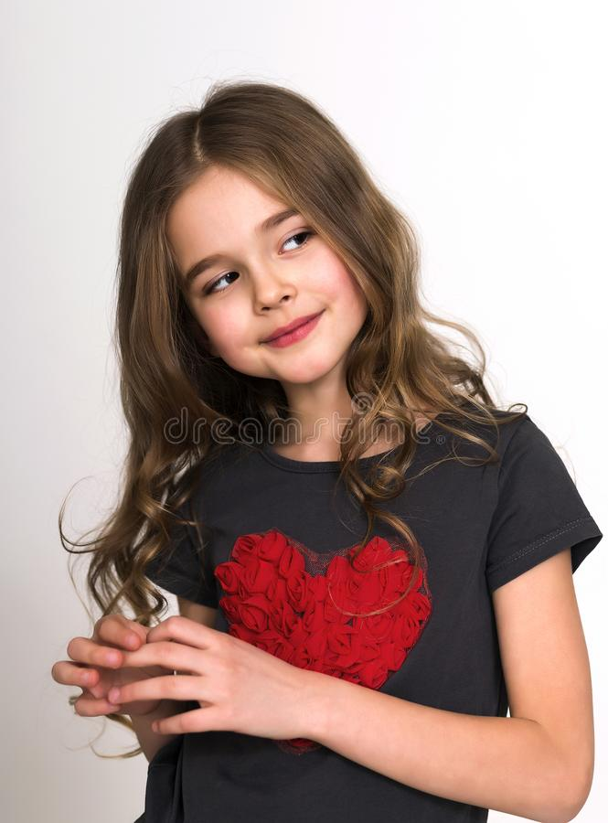 Portrait of smiling child girl stock photography