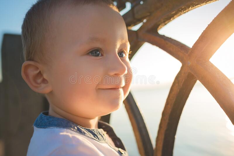 Portrait of smiling child royalty free stock photos