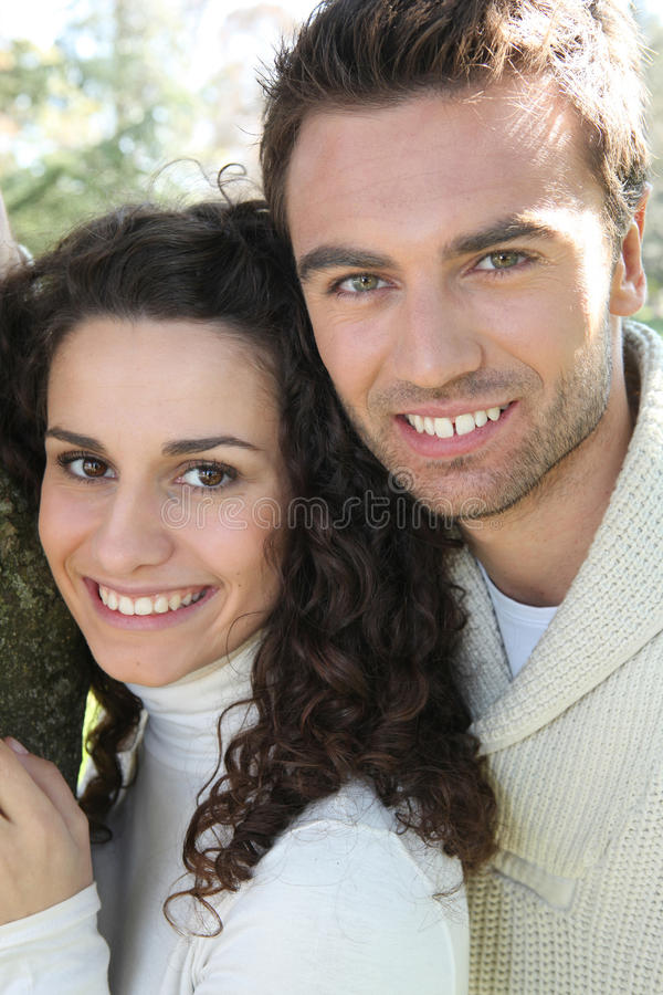 Download Portrait of smiling couple stock image. Image of happiness - 22405717