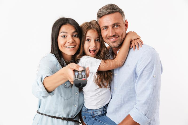 Portrait of a smiling family royalty free stock images