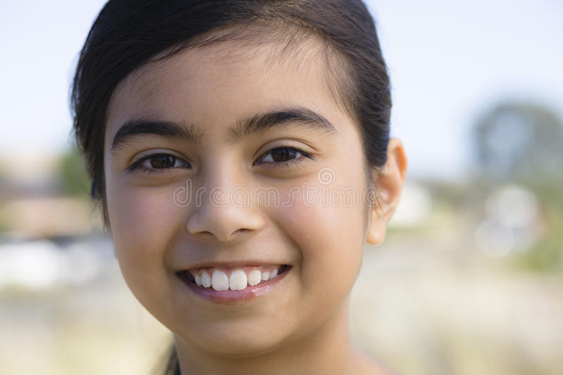 Download Portrait of Smiling Girl stock image. Image of outdoors - 11043241